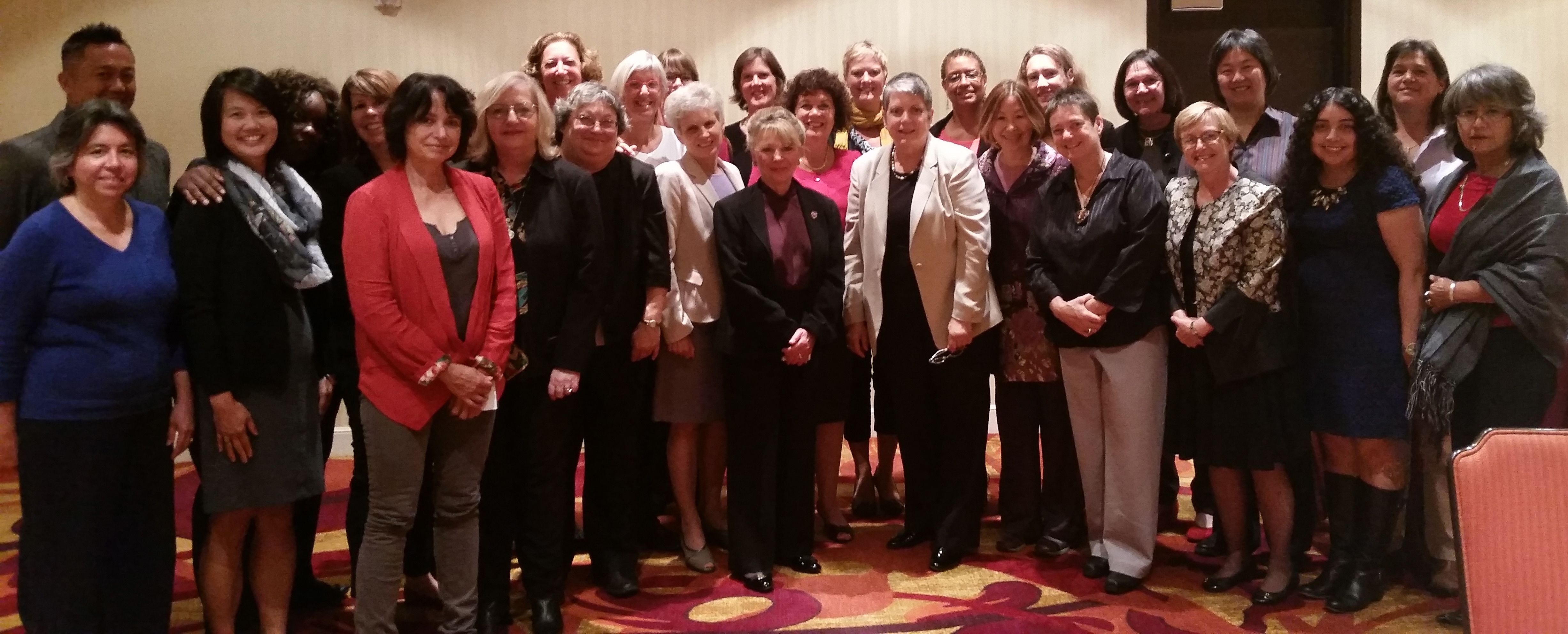 President Janet Napolitano with SACSW at the Fall 2014 meeting