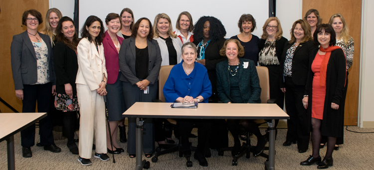 President Janet Napolitano with SACSW members